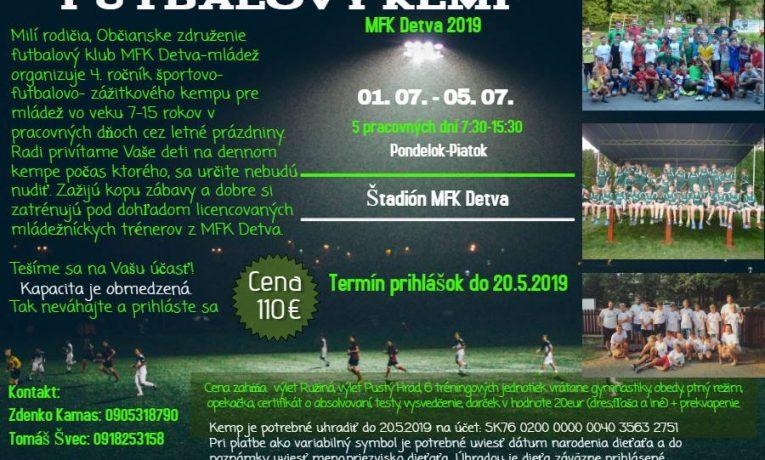 Futbalový Kemp MFK Detva 2019